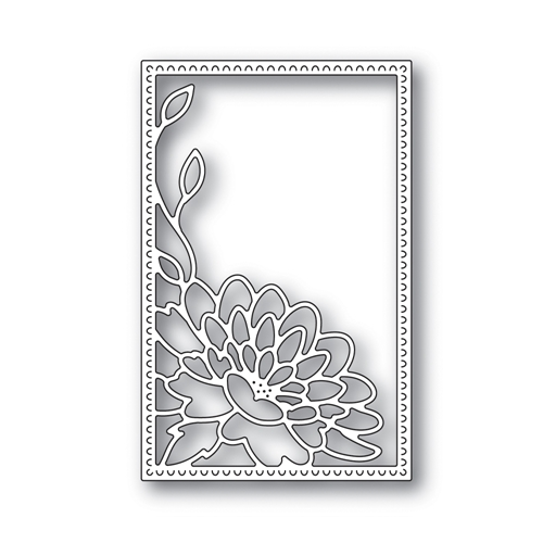 RESERVE Simon Says Stamp DAHLIA CORNER FRAME Wafer Die s642 Blossoms and Butterflies Preview Image