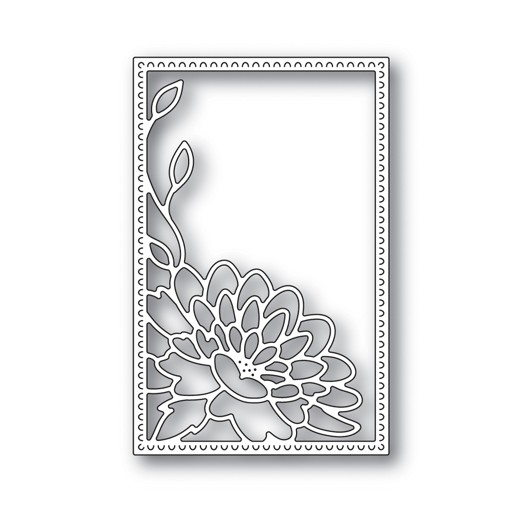 RESERVE Simon Says Stamp DAHLIA CORNER FRAME Wafer Die s642 Blossoms and Butterflies zoom image