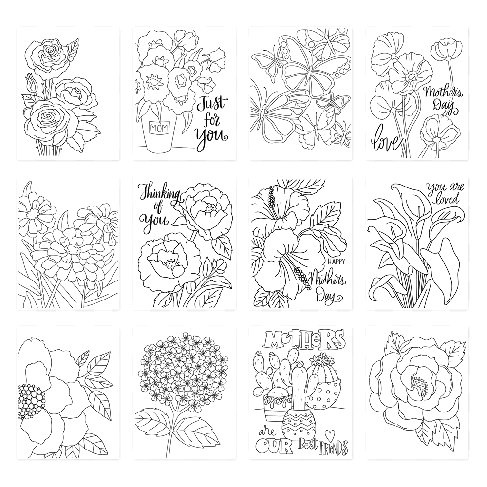 Simon Says Stamp Suzy's PICKED JUST FOR YOU Prints szwcpfy19 Blossoms and Butterflies zoom image