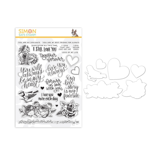 Simon Says Stamps And Dies LOVE ALWAYS set336la Blossoms and Butterflies Preview Image