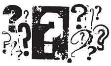 Tim Holtz Rubber Stamp QUESTIONS K3-1250 *