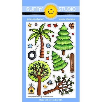 Sunny Studio SEASONAL TREES Clear Stamps SSCL-219