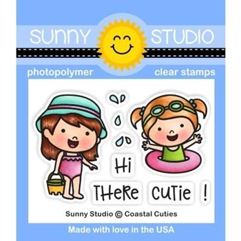 Sunny Studio COASTAL CUTIES Clear Stamps SSCL-228