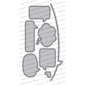Newton's Nook Designs SPEECH BUBBLES Die Set NN1804D05