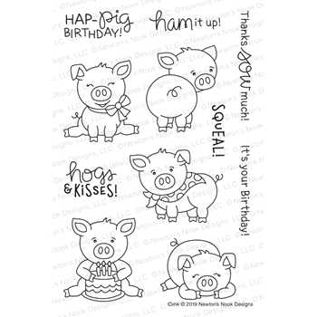 Newton's Nook Designs OINK Clear Stamps NN1904S03