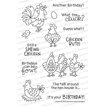 Newton's Nook Designs CLUCK Clear Stamps NN1904S02