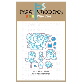 Paper Smooches ROSY POSY ICONS Wise Dies A1D435