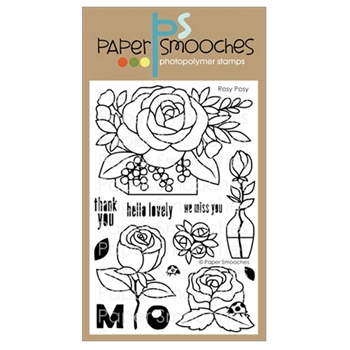 Paper Smooches ROSY POSY Clear Stamps A1S304