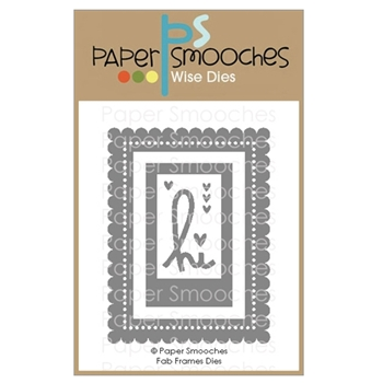 Paper Smooches FAB FRAMES Wise Dies A1D432
