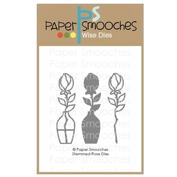 Paper Smooches STEMMED ROSE Wise Dies A1D436