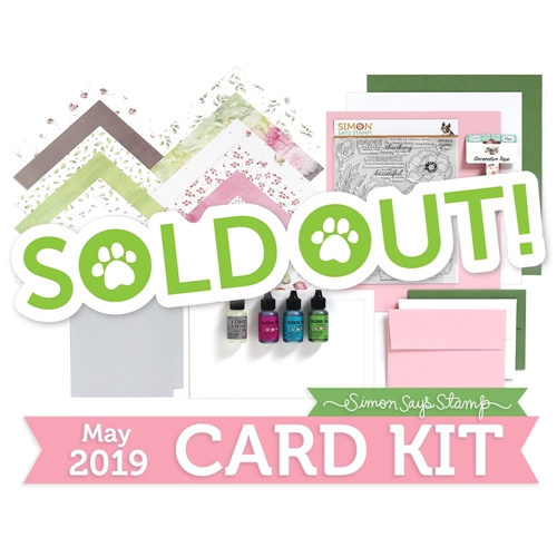 Simon Says Stamp Card Kit of The Month MAY 2019 DELICATE FLOWERS ck0519 Preview Image