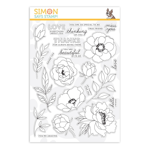 Simon Says Clear Stamps DELICATE FLOWERS sss201900 Preview Image