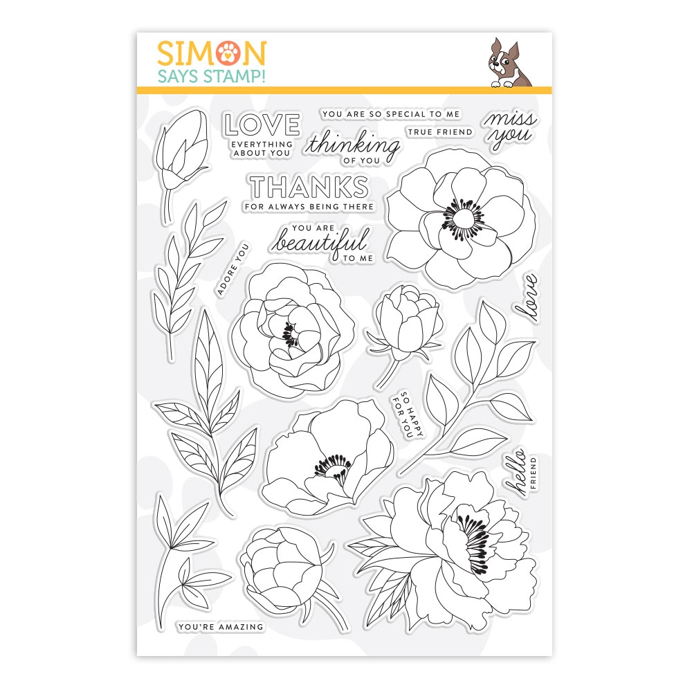 Simon Says Clear Stamps DELICATE FLOWERS sss201900 zoom image