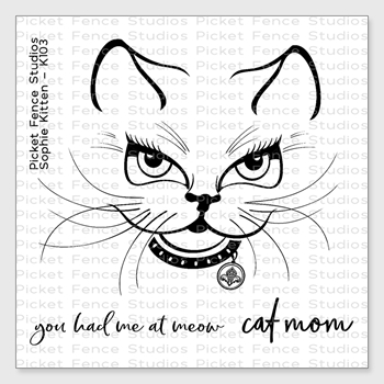 Picket Fence Studios SOPHIE KITTEN Clear Stamp Set k103
