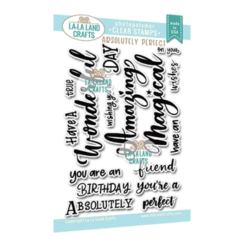 La-La Land Crafts Clear Stamps ABSOLUTELY PERFECT CL017