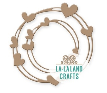 La-La Land Crafts HEART WREATH Dies 8443