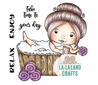 La-La Land Crafts Cling Stamps SPA MARCI 5405