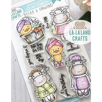 La-La Land Crafts Clear Stamps RELAX AND UNWIND CL027