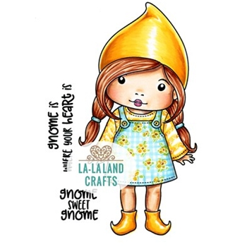La-La Land Crafts Cling Stamps GNOME MARCI 5406
