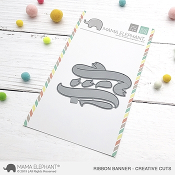 Mama Elephant RIBBON BANNER Creative Cuts Steel Dies