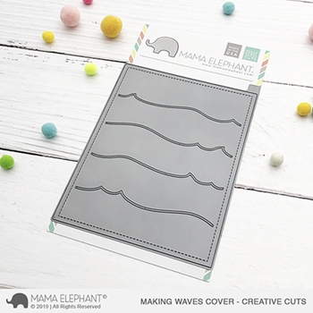 Mama Elephant MAKING WAVES Cover Creative Cuts Steel Dies