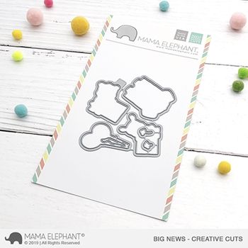 Mama Elephant BIG NEWS Creative Cuts Steel Dies