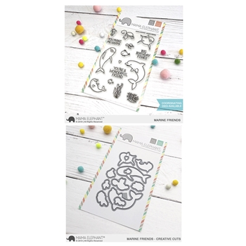 Mama Elephant Clear Stamp and Die mept622 Marine Friends SET