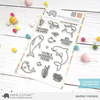 Mama Elephant Clear Stamps MARINE FRIENDS