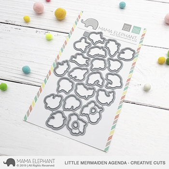 Mama Elephant LITTLE MERMAIDEN AGENDA Creative Cuts Steel Dies
