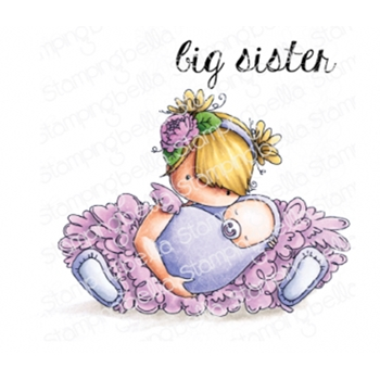 Stamping Bella Cling Stamp TINY TOWNIE BIG SISTER eb785