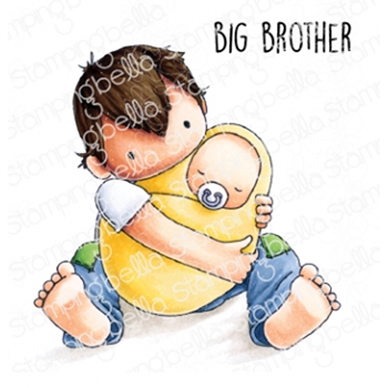 Stamping Bella Cling Stamp TINY TOWNIE BIG BROTHER eb812