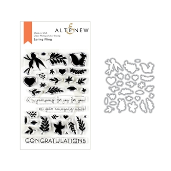Altenew SPRING FLING Clear Stamp and Die Bundle ALT3217