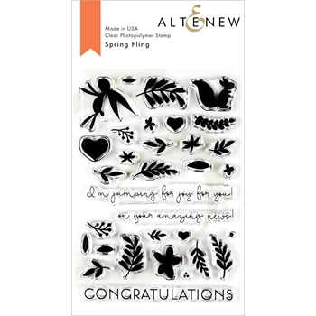 Altenew SPRING FLING Clear Stamps ALT3215