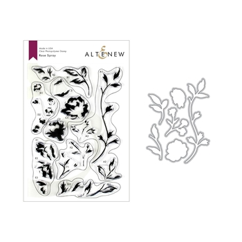 Altenew ROSE SPRAY Clear Stamp and Die Bundle ALT3214