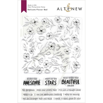 Altenew DELICATE FLOWER BED Clear Stamps ALT3210