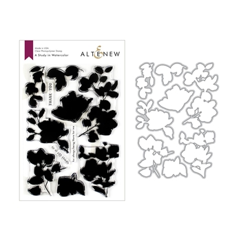 Altenew A STUDY IN WATERCOLOR Clear Stamp and Die Bundle ALT3200