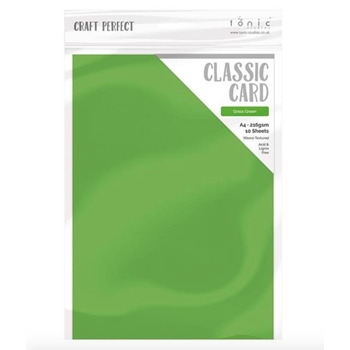 Tonic GRASS GREEN Craft Perfect Classic Weave Textured Cardstock 9635e