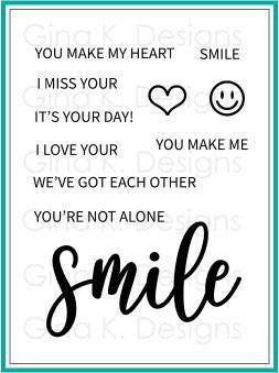 Gina K Designs SMILE Clear Stamps 500