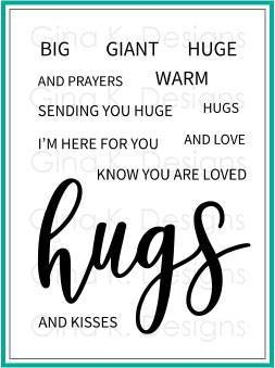 Gina K Designs HUGS Clear Stamps 524