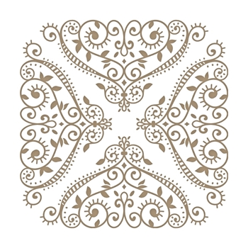 GLP-101 Spellbinders FANCIFUL CORNERS Glimmer Hot Foil Plates
