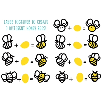 RESERVE Honey Bee HONEY BEES PAPER PIECING Dies hbds-hbp