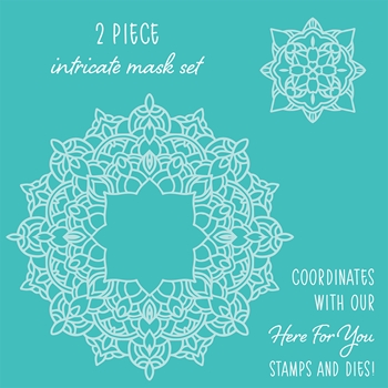 RESERVE Honey Bee MANDALA Stencils Set of 2 hbsl-15