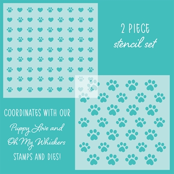 RESERVE Honey Bee FRIENDS FUREVER Stencils Set of 2 hbsl-16