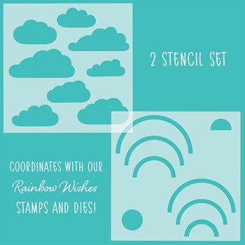 RESERVE Honey Bee RAINBOW WISHES Stencils Set of 2 hbsl-18