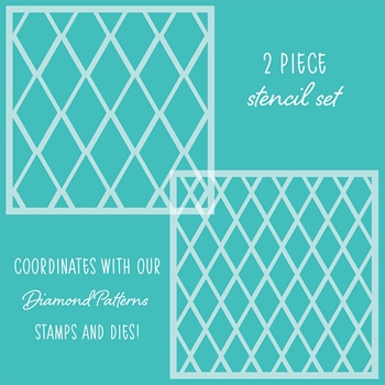RESERVE Honey Bee DIAMOND PATTERNS Stencils Set of 2 hbsl-19