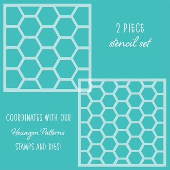 RESERVE Honey Bee HEXAGON PATTERNS Stencils Set of 2 hbsl-20