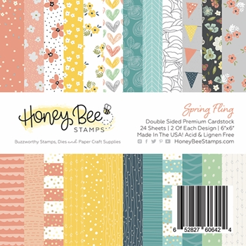 RESERVE Honey Bee SPRING FLING 6 x 6 Paper Pad hbpa-003