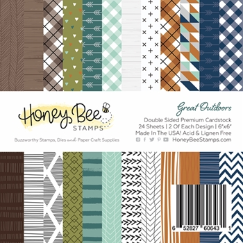 RESERVE Honey Bee GREAT OUTDOORS 6 x 6 Paper Pad hbpa-004