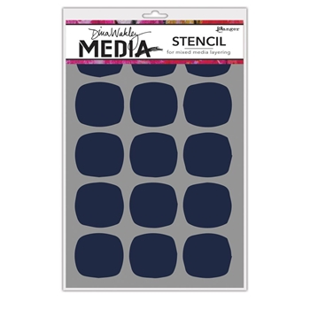 Dina Wakely BIG SQUOVALS Media Stencil MDS64992