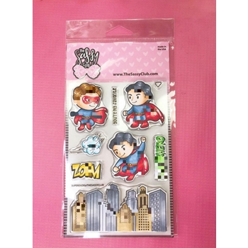 The Sassy Club SUPER DUDE Clear Stamps TSCL205